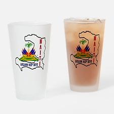 2-Haiti-SHIRT Drinking Glass