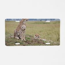 Cheetah Aluminum License Plate