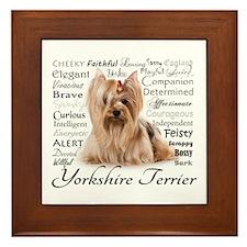 Yorkie Traits Framed Tile