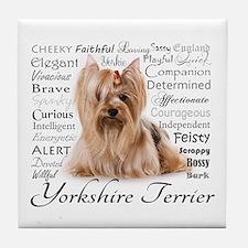 Yorkie Traits Tile Coaster
