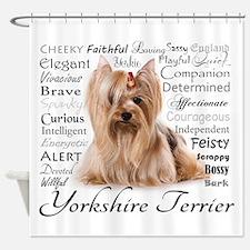 Yorkie Traits Shower Curtain