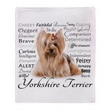 Yorkie Traits Throw Blanket