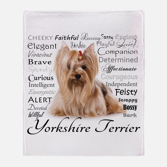 Yorkie Traits Throw Blanket