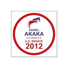 """2012_daniel_akaka_main Square Sticker 3"""" x 3"""""""
