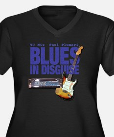 Blues In Dis Women's Plus Size Dark V-Neck T-Shirt