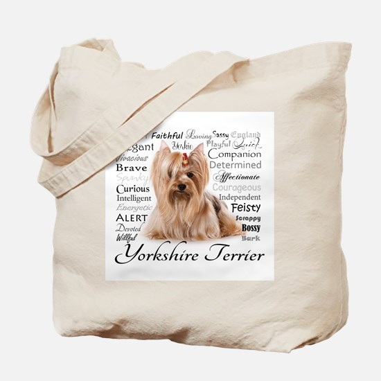 Yorkie Traits Tote Bag