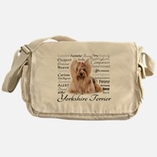 Yorkie Traits Messenger Bag
