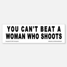 Can't Beat A Woman Bumper Bumper Bumper Sticker