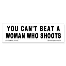 Can't Beat A Woman Bumper Bumper Sticker