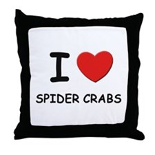 I love spider crabs Throw Pillow