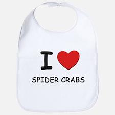 I love spider crabs Bib
