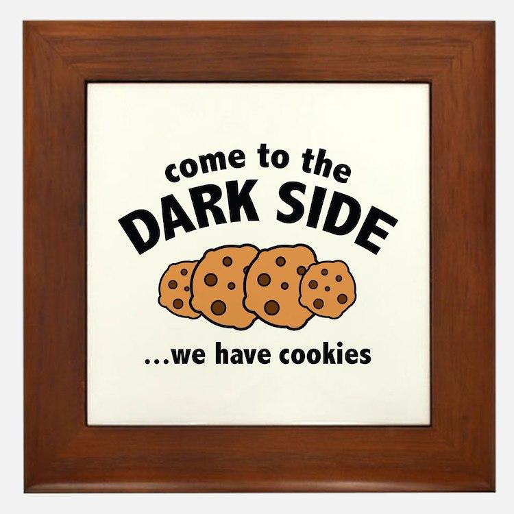 Come To The Dark Side Framed Tile