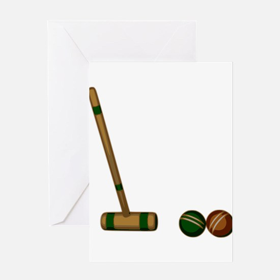 Croquet Game Greeting Cards