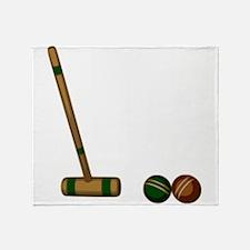 Croquet Game Throw Blanket