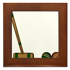 Croquet Game Framed Tile