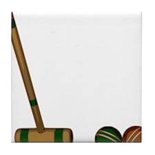 Croquet Game Tile Coaster