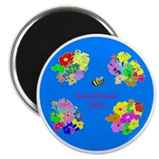 BBS bee  flowers 10x10 PNG8b Magnet