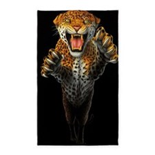 Leaping Leopard large Poster 3'x5' Area Rug