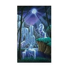 Unicorns in the Moonlight lar Rectangle Car Magnet