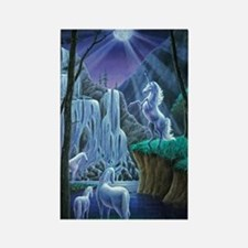Unicorns in the Moonlight large p Rectangle Magnet