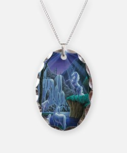 Unicorns in the Moonlight larg Necklace