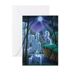 Unicorns in the Moonlight large post Greeting Card