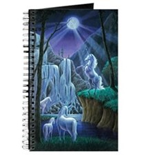 Unicorns in the Moonlight large poster Journal