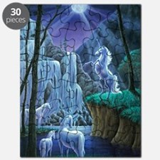 Unicorns in the Moonlight large poster Puzzle