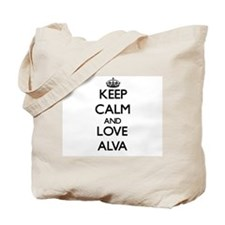 Keep Calm and Love Alva Tote Bag