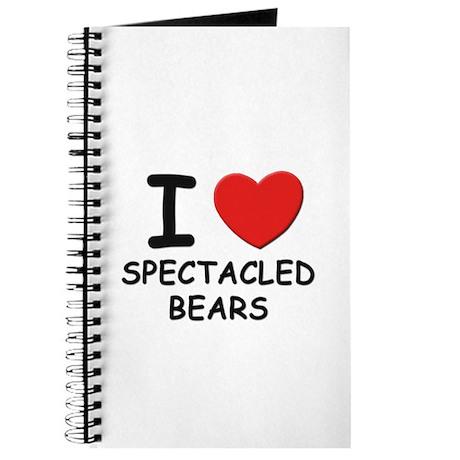 I love spectacled bears Journal