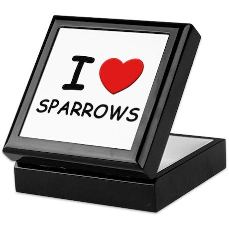 I love sparrows Keepsake Box