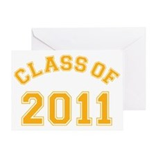 class-of-2011_yellow Greeting Card