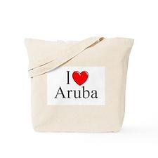 """""""I Love Aruba"""" Tote Bag"""
