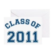 class-of-2011_blue Greeting Card