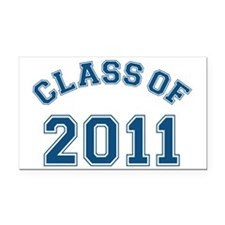 class-of-2011_blue Rectangle Car Magnet