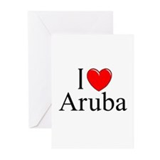 """I Love Aruba"" Greeting Cards (Pk of 10)"