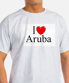 """I Love Aruba"" Ash Grey T-Shirt"