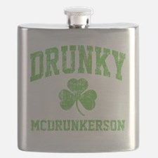 Drunky -green Flask