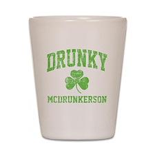 Drunky -green Shot Glass