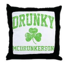 Drunky -green Throw Pillow