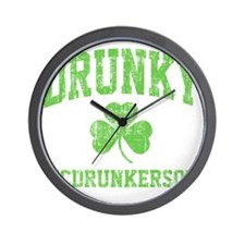 Drunky -green Wall Clock