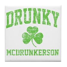 Drunky -green Tile Coaster