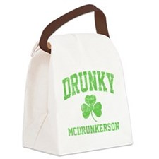 Drunky -green Canvas Lunch Bag