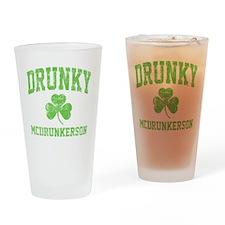 Drunky -green Drinking Glass