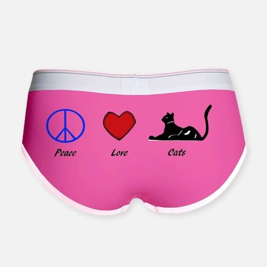 peace love cats Women's Boy Brief