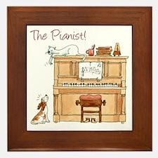 The  Pianist Framed Tile