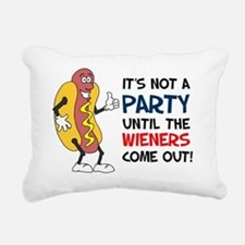 Party Until Wieners Come Rectangular Canvas Pillow