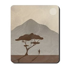 African Scene with Tribesman Mousepad