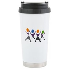 Dancing Stick Figures Travel Mug