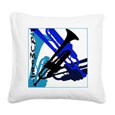 Graphic Trumpet Square Canvas Pillow